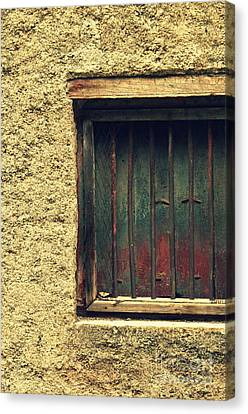 Locked And Abandoned - 3 Canvas Print