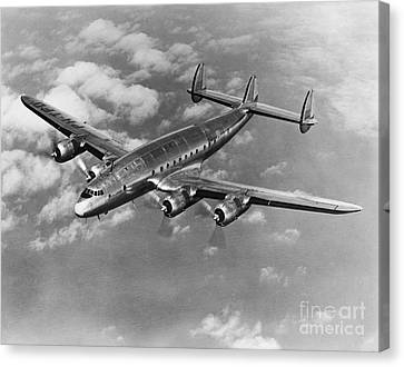 Lockheed Constellation Canvas Print by Photo Researchers
