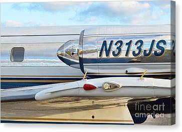 Lockheed Jet Star Engine Canvas Print by Lynda Dawson-Youngclaus