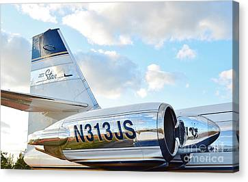 Lockheed Jet Star Canvas Print by Lynda Dawson-Youngclaus