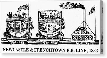 Locomotive, 1833 Canvas Print by Granger