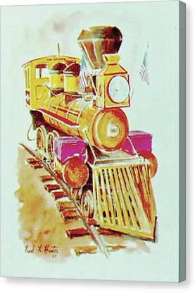 Locomotive Canvas Print by Frank Hunter