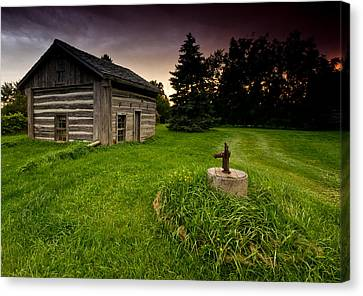 Log Cabin Canvas Print by Cale Best