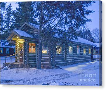 Log Cabin Library 1 Canvas Print by Jim Wright