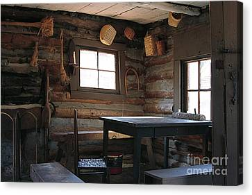 Canvas Print featuring the photograph Log Cabin by Nicola Fiscarelli