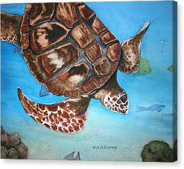 Loggerhead Turtle Canvas Print