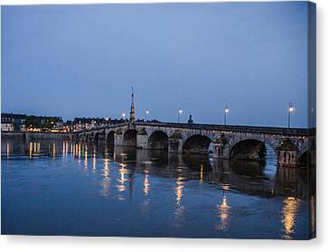 Loire River By Night Canvas Print