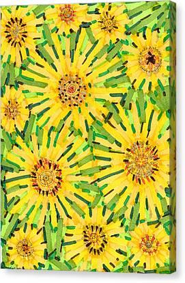 Loire Sunflowers Two Canvas Print by Jason Messinger