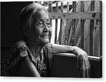 Filipina Canvas Print - Lola Laraine Favorite Spot Image 28 In Black And White by James BO  Insogna
