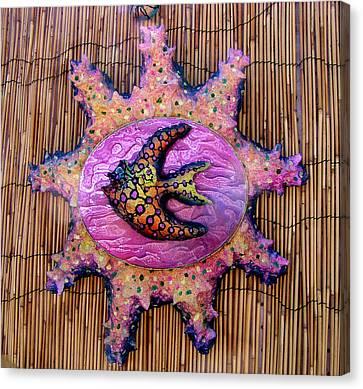 lola the Angel fish Canvas Print by Dan Townsend