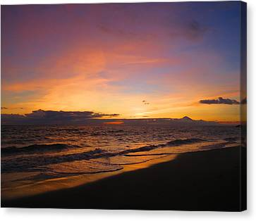 Lombok Sunset Canvas Print by Steve Kingston