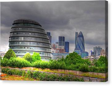 London Art Canvas Print by Barry R Jones Jr