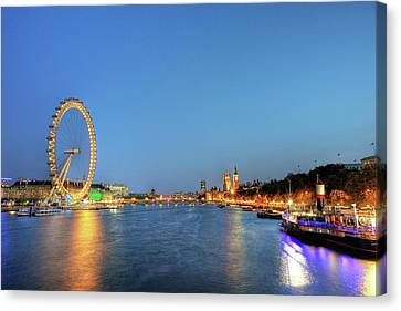London At Night Canvas Print by Thank you for choosing my work.