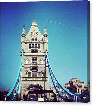 London Bridge, May - 2012 #london Canvas Print by Abdelrahman Alawwad