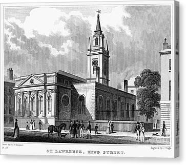 London: Church, C1830 Canvas Print by Granger