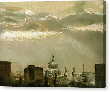 London City Dawn 2 Canvas Print by Paul Mitchell