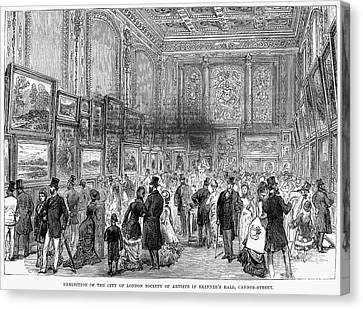 London: Exhibition, 1880 Canvas Print by Granger