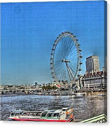 London Eye, #london #londoneye Canvas Print by Abdelrahman Alawwad