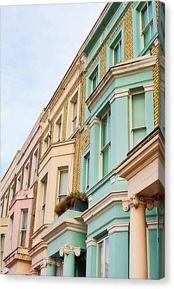 London Houses Canvas Print by Tom Gowanlock
