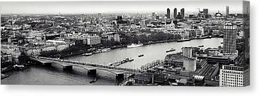 London In A Click Canvas Print by Sharon Lisa Clarke