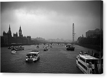 Canvas Print featuring the photograph London Jubilee 2012 by Lenny Carter