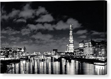 London Lights At Night Canvas Print by Lenny Carter