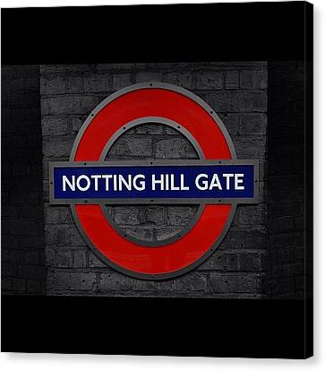 #london #nottinghillgate #underground Canvas Print by Ozan Goren