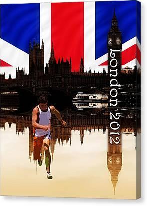 London Olympics Canvas Print by Sharon Lisa Clarke