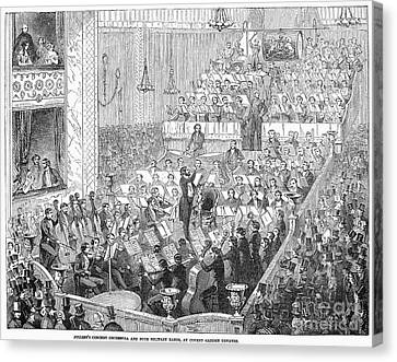 London: Orchestra, 1846 Canvas Print by Granger