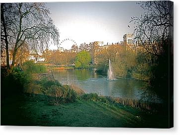 Canvas Print featuring the photograph London Park by Blake Yeager