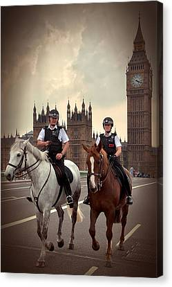 London Police Canvas Print by Svetlana Sewell