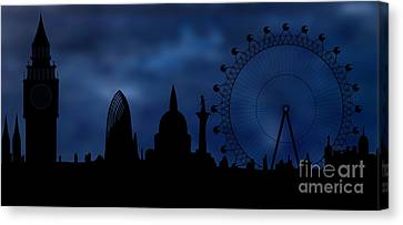 Sombre Canvas Print - London Skyline - Night by Michal Boubin