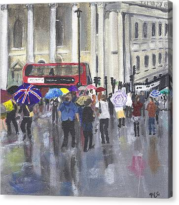 London - Summer 2012-1 Canvas Print by Peter Edward Green