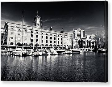 Canvas Print featuring the photograph London Yachts by Lenny Carter