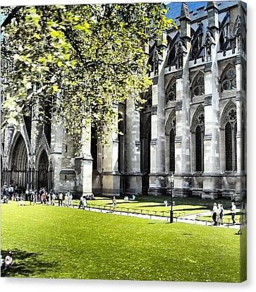 #london2012 #london #church #stone Canvas Print by Abdelrahman Alawwad