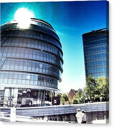 #london2012 #london #uk #england Canvas Print by Abdelrahman Alawwad