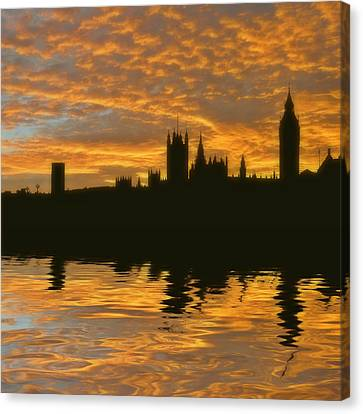 London's Burning Canvas Print by Sharon Lisa Clarke