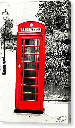 London's Red Booth Canvas Print