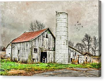 Canvas Print featuring the photograph Lone Barn by Mary Timman