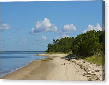 Lone Beach Canvas Print