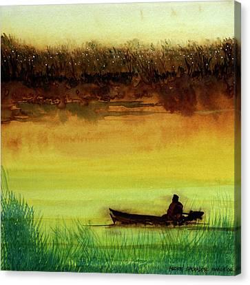Lone Boatman Canvas Print