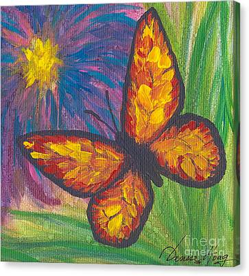 Lone Butterfly Canvas Print by Denise Hoag