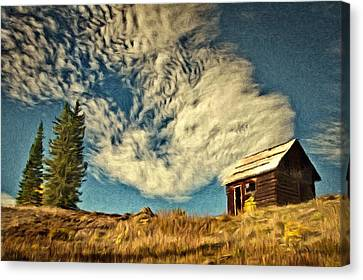 Lone Cabin Canvas Print by Jeff Kolker