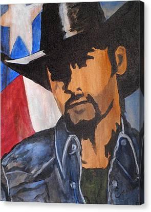 Lone Star Cowboy Canvas Print by Cheri Stripling