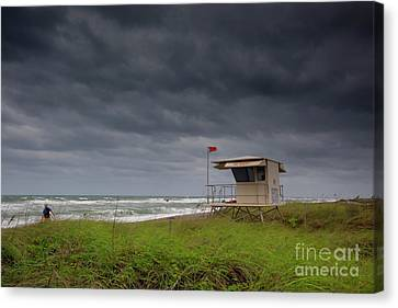 Lone Surfer Canvas Print by Keith Kapple