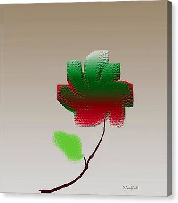 Canvas Print featuring the digital art Lonely Beauty by Asok Mukhopadhyay