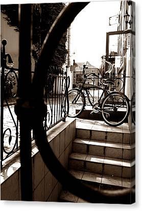 Lonely Bike Canvas Print by Birut Ces