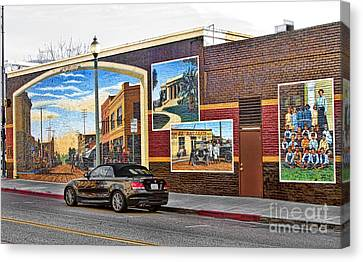 Old Town Santa Paula Mural Canvas Print by Jason Abando