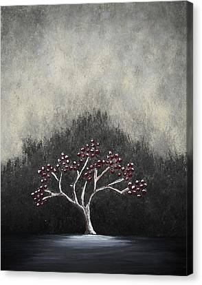 Canvas Print featuring the painting Lonely by Edwin Alverio