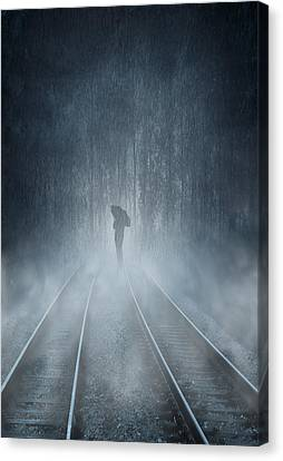 Lonely Figure Canvas Print by Svetlana Sewell